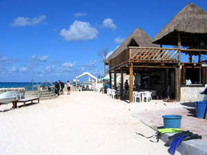 Cozumel beaches closest to town.