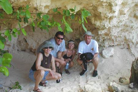 Old picture of Sand Cave below Coconuts