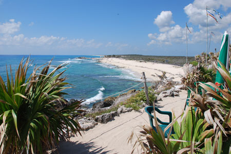 A beautiful view of Cozumel's coastline