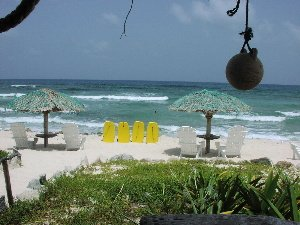 One of Cozumel's first beach clubs