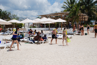 Cozumel beaches; Playa Uvas