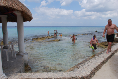 Watch for sharp rocks as you snorkel our Cozumel Beaches.