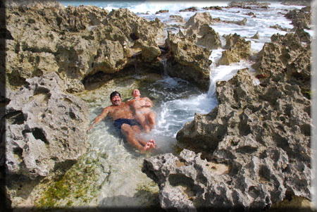 Cozumel beaches, natural jacuzzi